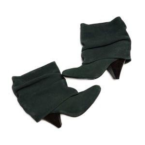 STEVE MADDEN Carlsen Green Suede Slouch Boots